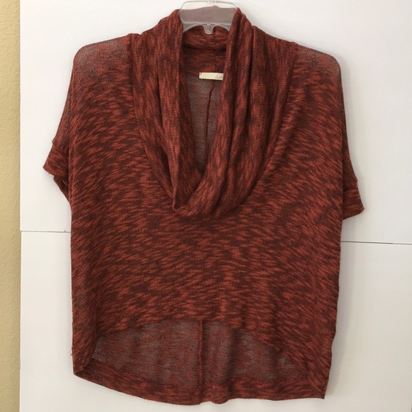 lush high low cowl neck sweater